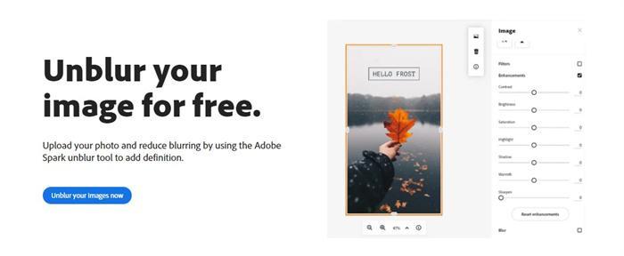 Unblur Adobe Spark